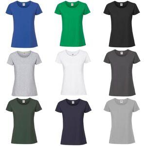 Fruit of the Loom Frukten av veven kvinners/damer ringspunnet Premium t-skjorte Metall grå XL