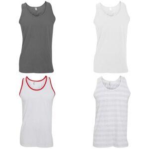 American Apparel kvinners ermeløs trøye Vest/vest Nytt sølv L