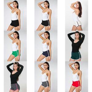 American Apparel kvinners/damer bomull Casual/sport Shorts Teal / hvit L