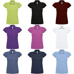B&C B & C kvinners/damer Heavymill bomull kort ermet Polo skjorte Brown XL