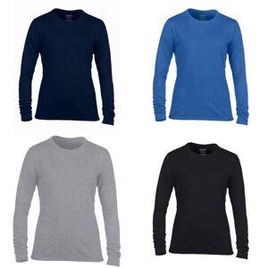 Gildan kvinners/damer ytelse Freshcare lang ermet t-skjorte Hvit L
