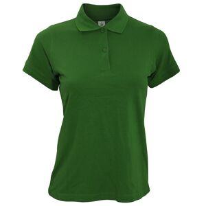 B&C B & C Safran ren damer kort ermet Polo skjorte Flaske grønt XL