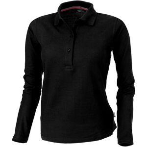 Slazenger kvinners/damer peker lang ermet Polo skjorte Helsvart L