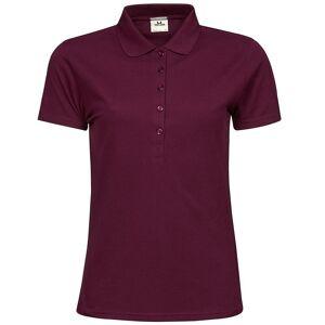 Tee Jays kvinners/damer luksus strekk kort ermet Polo skjorte Vin 3XL