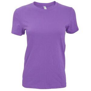 American Apparel kvinners/damer vanlig kort erme t-skjorte Lilla S