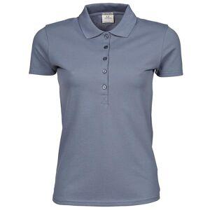 Tee Jays kvinners/damer luksus strekk kort ermet Polo skjorte Flint stein 2XL