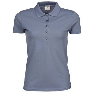 Tee Jays kvinners/damer luksus strekk kort ermet Polo skjorte Flint stein S