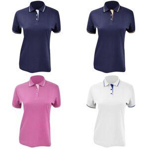Kustom Kit Kustom orientert Kit damer St. Mellion kort ermet Polo skjorte Navy/hvit 8 UK