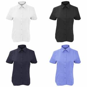 Kustom Kit Kustom orientert Kit damer Workwear Oxford kort ermet skjorte Franske marinen 8