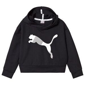Puma Black Branded Crop Sports Hoodie 7-8 years