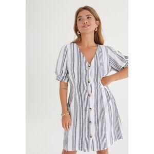 Gina Tricot Lo button down linen dress