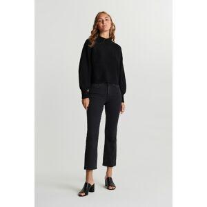 Gina Tricot Ylva kick flare jeans 38 Female Offblack