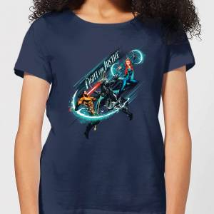 Aquaman Fight for Justice Women's T-Shirt - Navy - L - Navy