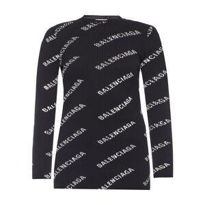 Balenciaga Ribbed top with logo