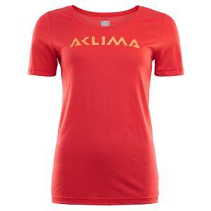 Aclima LightWool T-Shirt Logo Women Rød