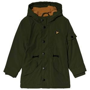 Lyle & Scott Country Green & Burnt Orange Microfleece Parka 14-15 years
