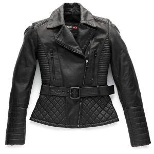 Blauer Trinity Black Ladies motorsykkel skinnjakke Svart M