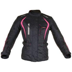 Oxford Dakota Lange damer motorsykkel tekstil jakke Svart Rosa XS 32 42