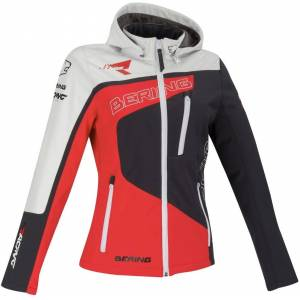 Bering Racing Kvinners Softshell jakke 38 Svart Hvit Rød
