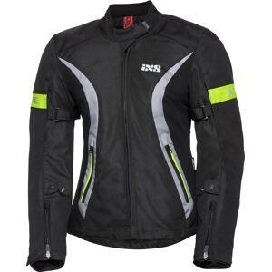 IXS Sport 5/8-ST Vanntett Ladies Motorsykkel tekstil jakke 2XL Svart Grå Gul