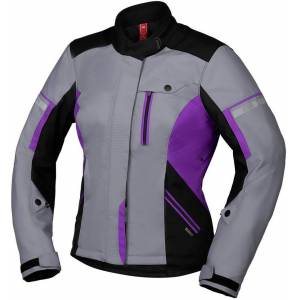 IXS Tour Finja-ST 2.0 Ladies motorsykkel tekstil jakke XL Grå Lilla