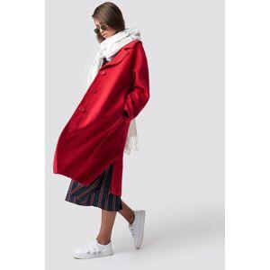 Hannalicious x NA-KD Oversized Wool Blend Coat - Red
