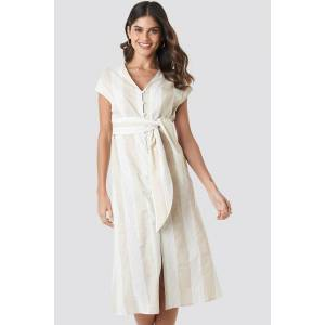 MANGO Bombay 2 Dress - Beige