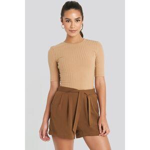 MANGO Fast Shorts - Brown