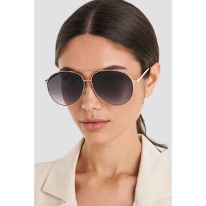MANGO Meagan Sunglasses - Gold