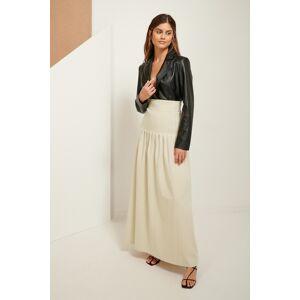 ART Darted Maxi Skirt - Beige