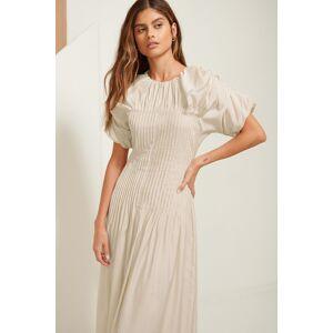 ART Pintucked Dress - Beige