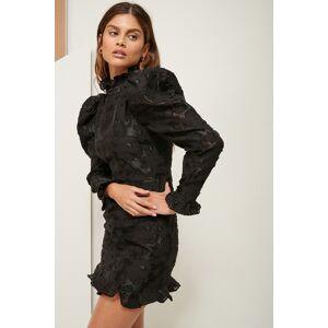 ART Volume Lace Mini Dress - Black