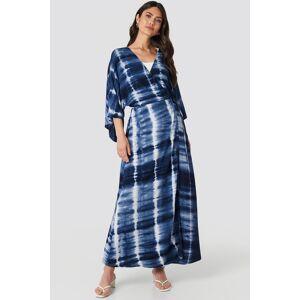NA-KD Trend Batik Coat - Blue