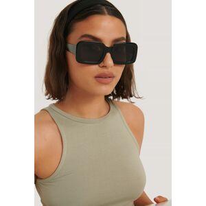 NA-KD Accessories Big Retro Square Sunglasses - Black