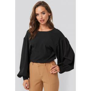 NA-KD Big Sleeve Blouse - Black