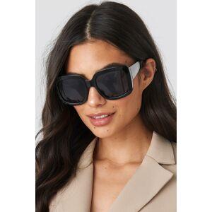 NA-KD Accessories Big Squared Sunglasses - Black