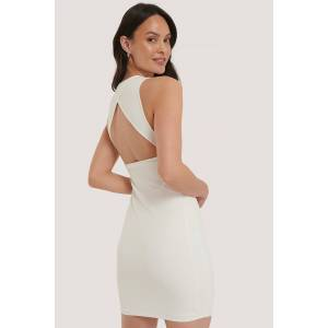 NA-KD Party Clean Open Back Dress - White