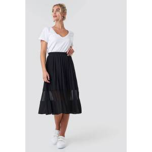 NA-KD Trend Co-ord Pleated Panel Midi Skirt - Black