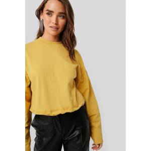 NA-KD Contour Seam Deatil Sweater - Yellow