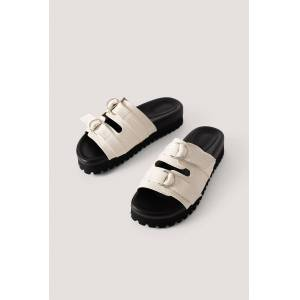 NA-KD Shoes Double Buckle Sandals - Offwhite