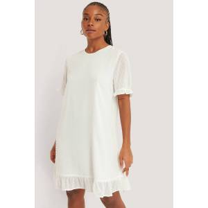 NA-KD Boho Dobby Loose Dress - White
