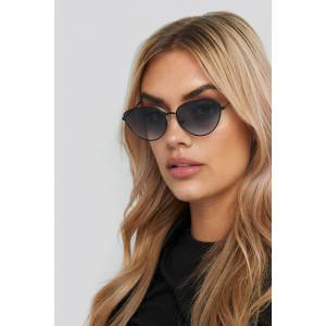 NA-KD Accessories Drop Shape Metal Frame Sunglasses - Black