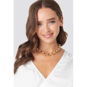 NA-KD Accessories Matte Chunky Chain Necklace - Gold