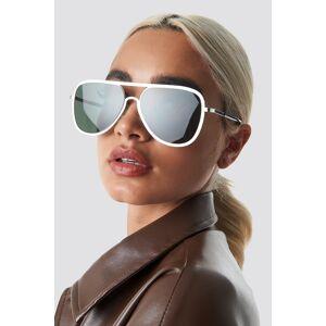 NA-KD Accessories Metal Frame Pilot Sunglasses - Green