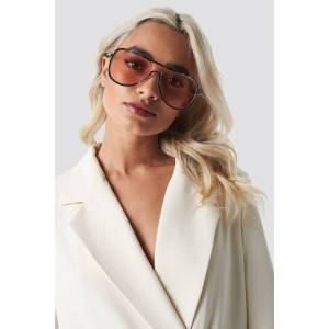 NA-KD Accessories Metal Frame Pilot Sunglasses - Pink