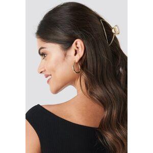 NA-KD Accessories Metal Hair Clip - Gold