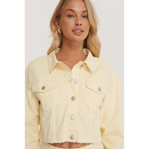 NA-KD Reborn Organic Cotton Colored Denim Jacket - Yellow