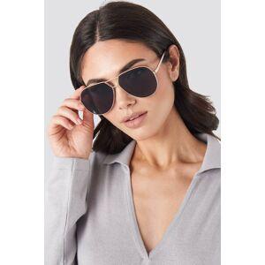 NA-KD Accessories Oversize Wire Frame Sunglasses - Black,Gold