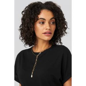 NA-KD Accessories Vintage Pearl Chain Necklace - Gold