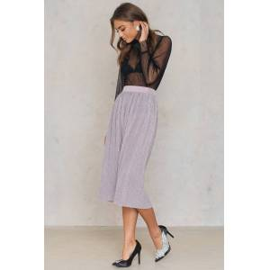 NA-KD Party Pleated Glittery Skirt - Pink